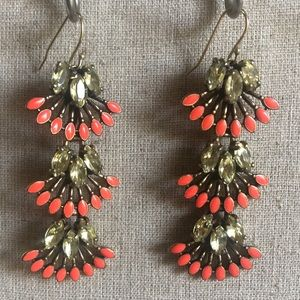 Stella & Dot Coral Cay Earrings